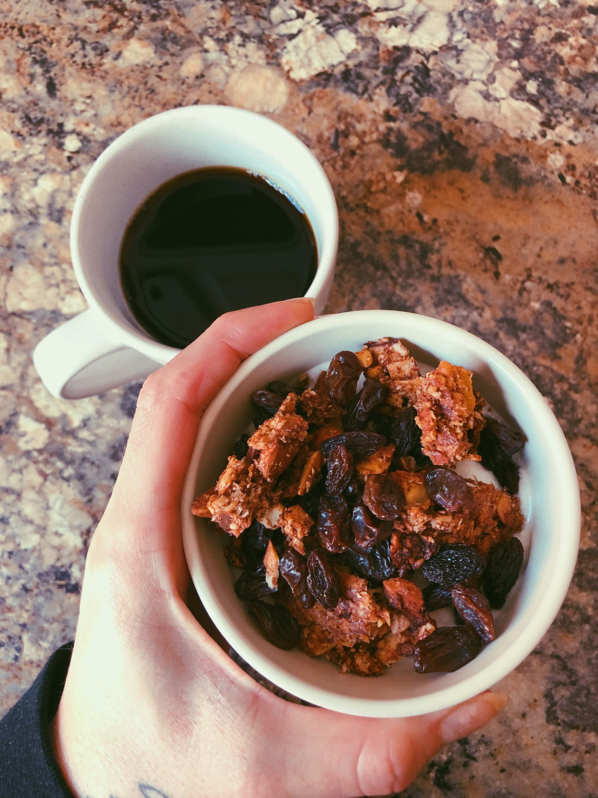 cinnamon raisin grain free granola