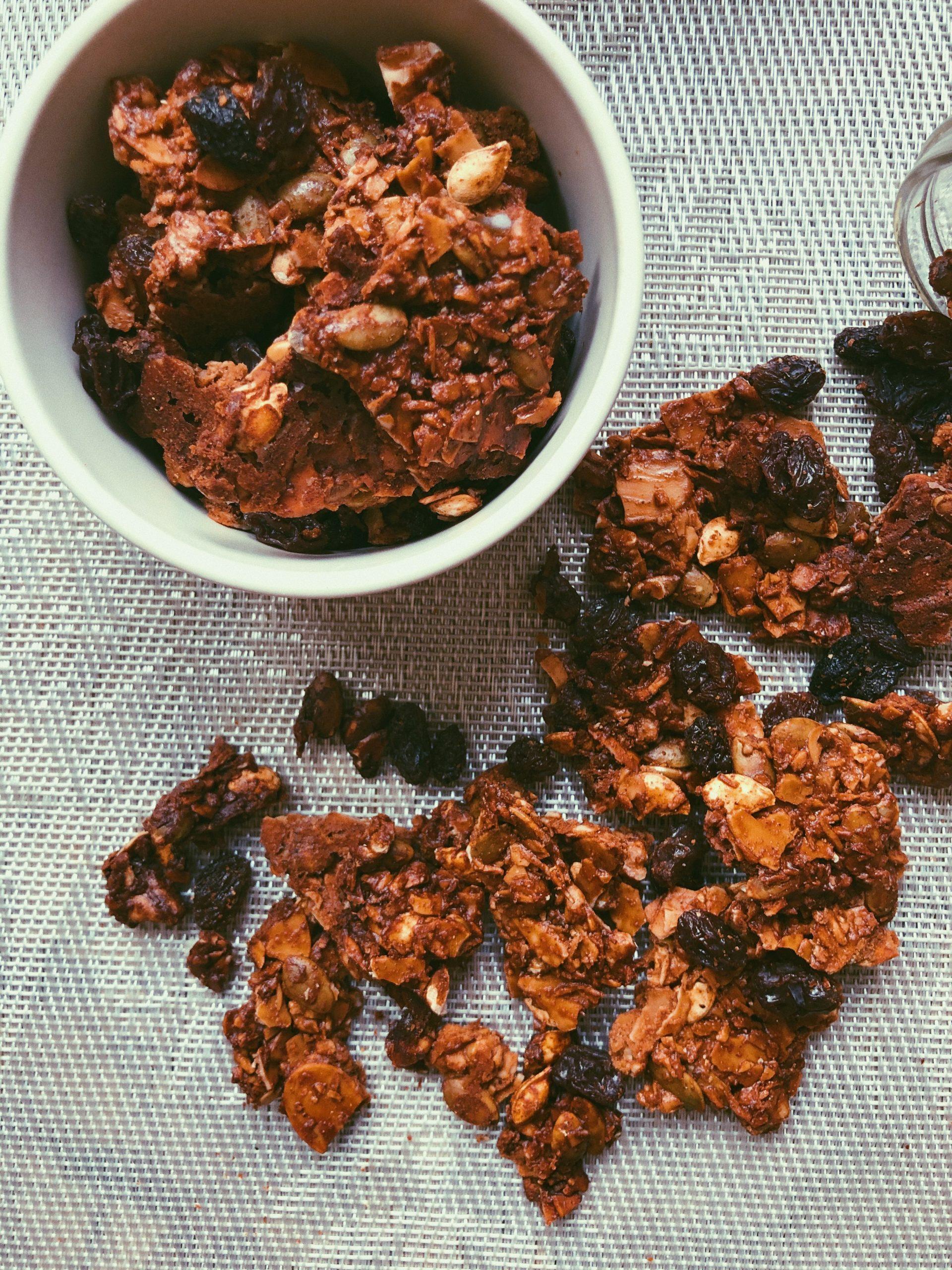 ginger spice grain free granola