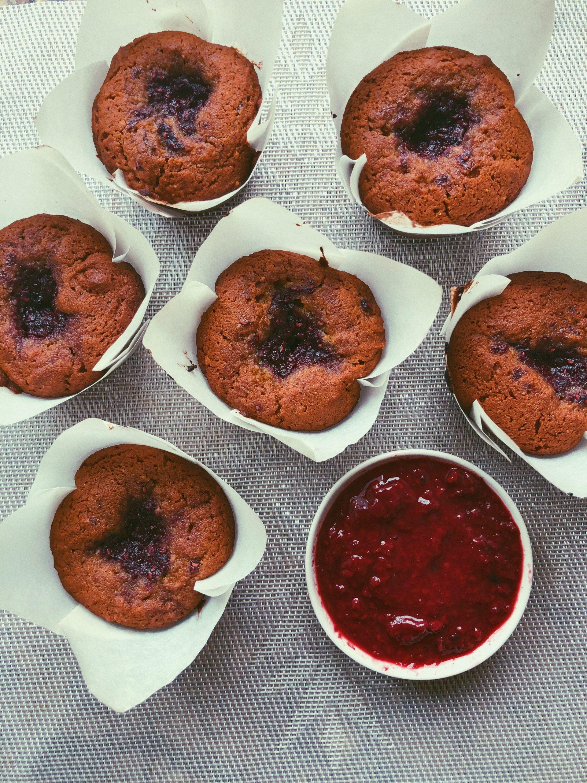 grain free peanut butter & jam muffins scd diet