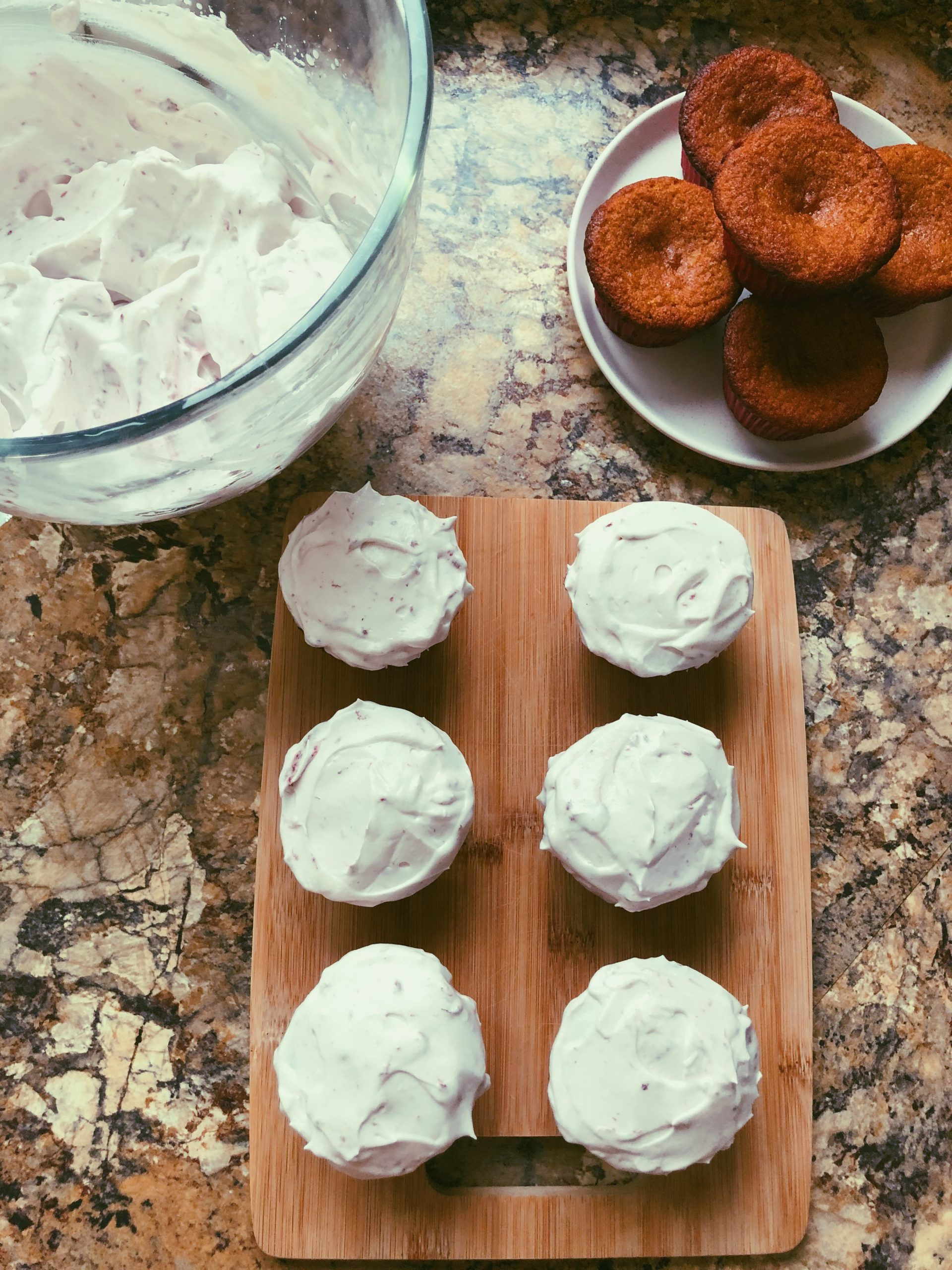grain free lemon cupcakes with frosting