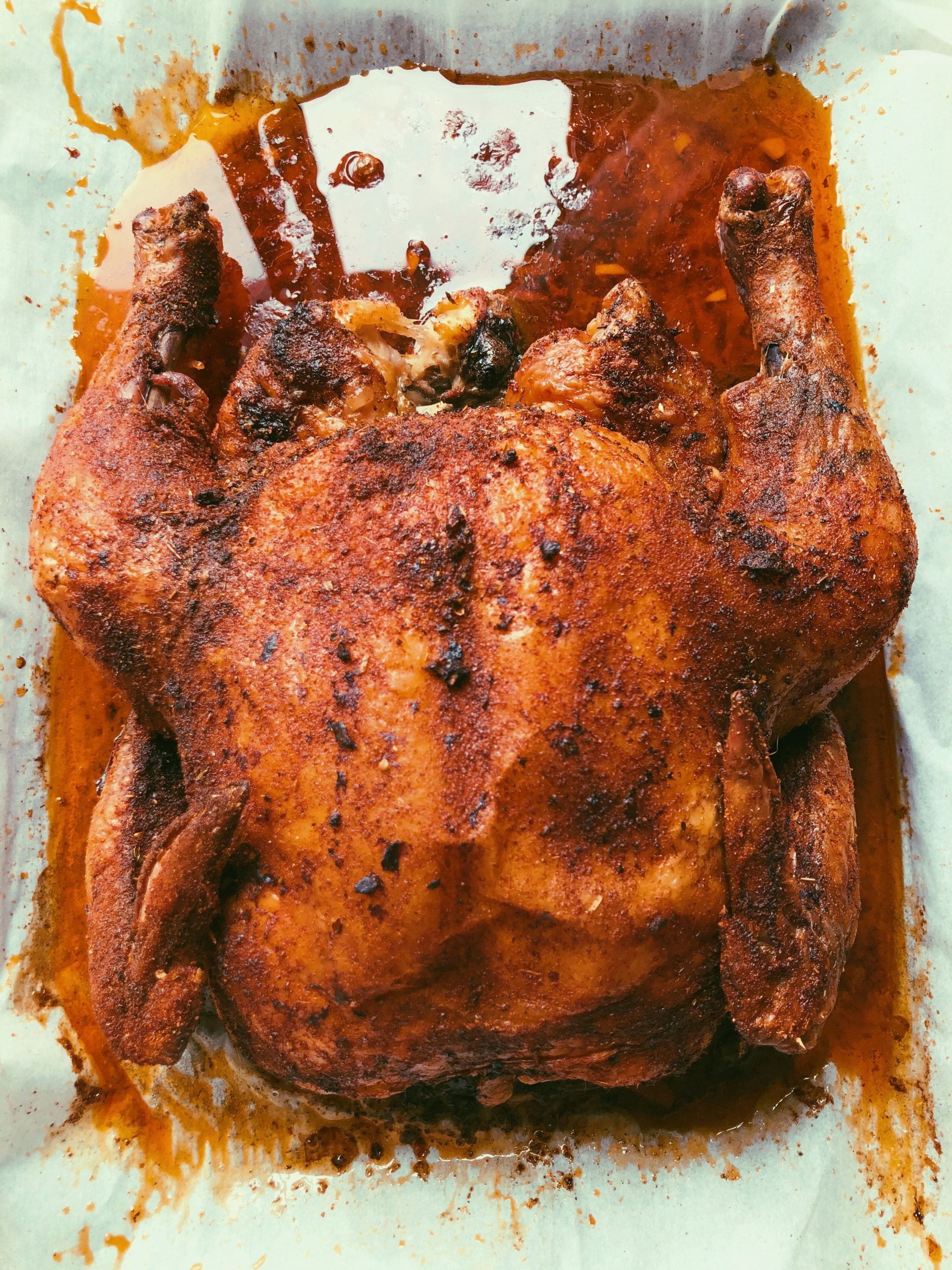 easy whole roasted chicken, scd diet