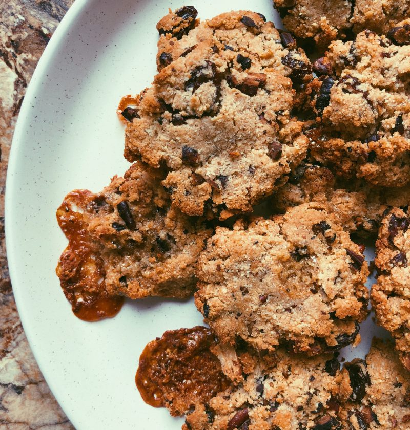 grain free pecan monster cookies