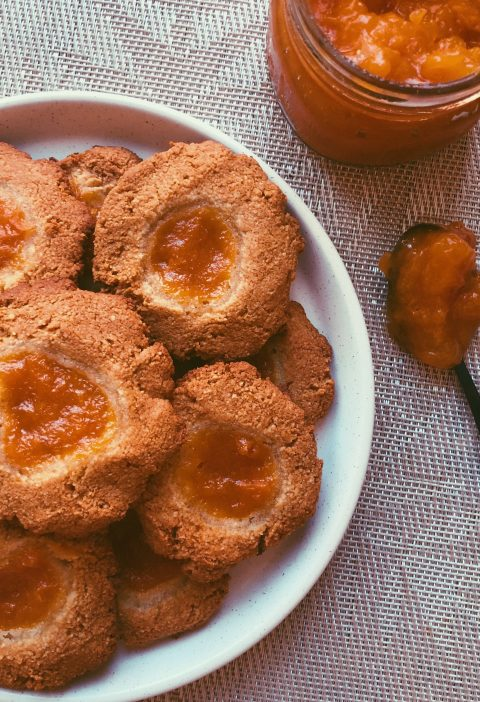 grain free apricot thumbprint cookies scd diet