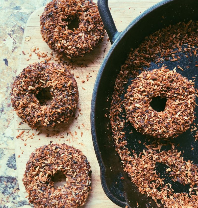 grain free ginger spice donuts