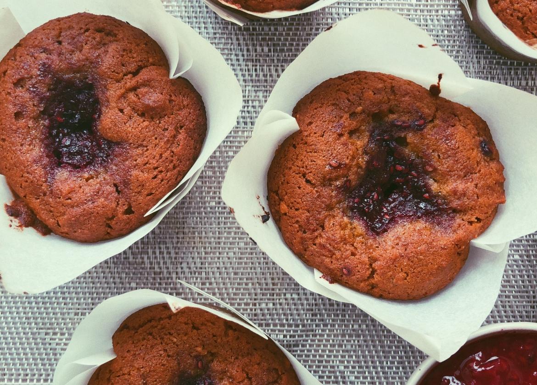 peanut butter and jam muffins, grain free, scd diet