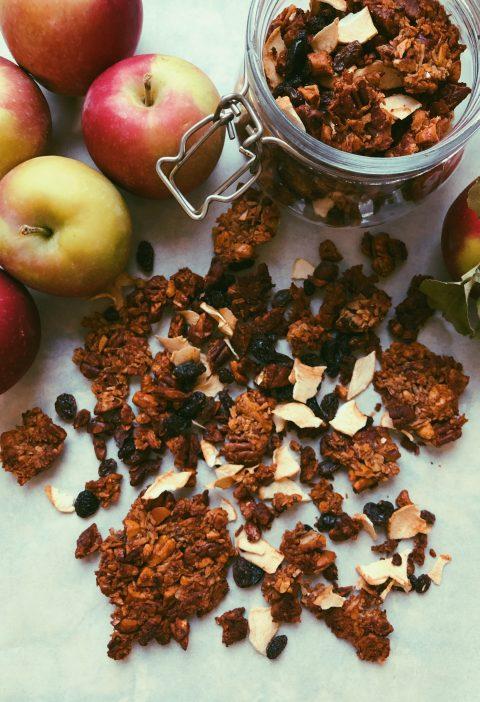apple pecan grain free granola