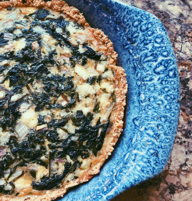 spinach feta quiche (grain free, scd diet)
