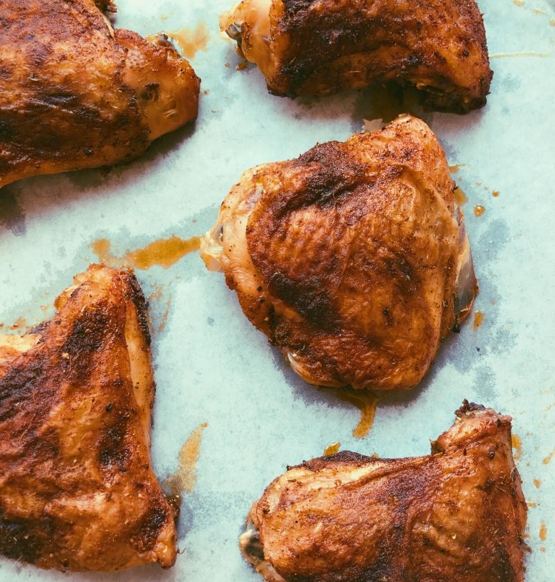 easy crispy chicken thighs grain freee