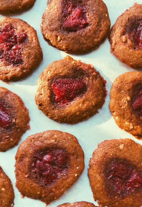 peanut butter & jam cookies grain free scd diet cover