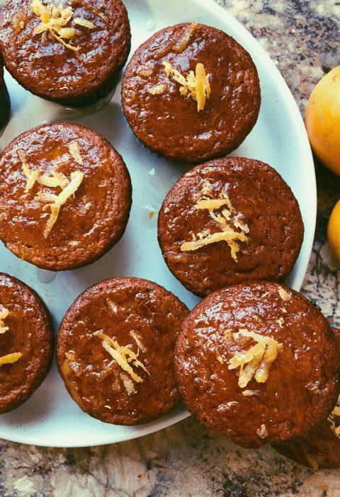 lemon muffins lemon honey glaze grain free scd diet