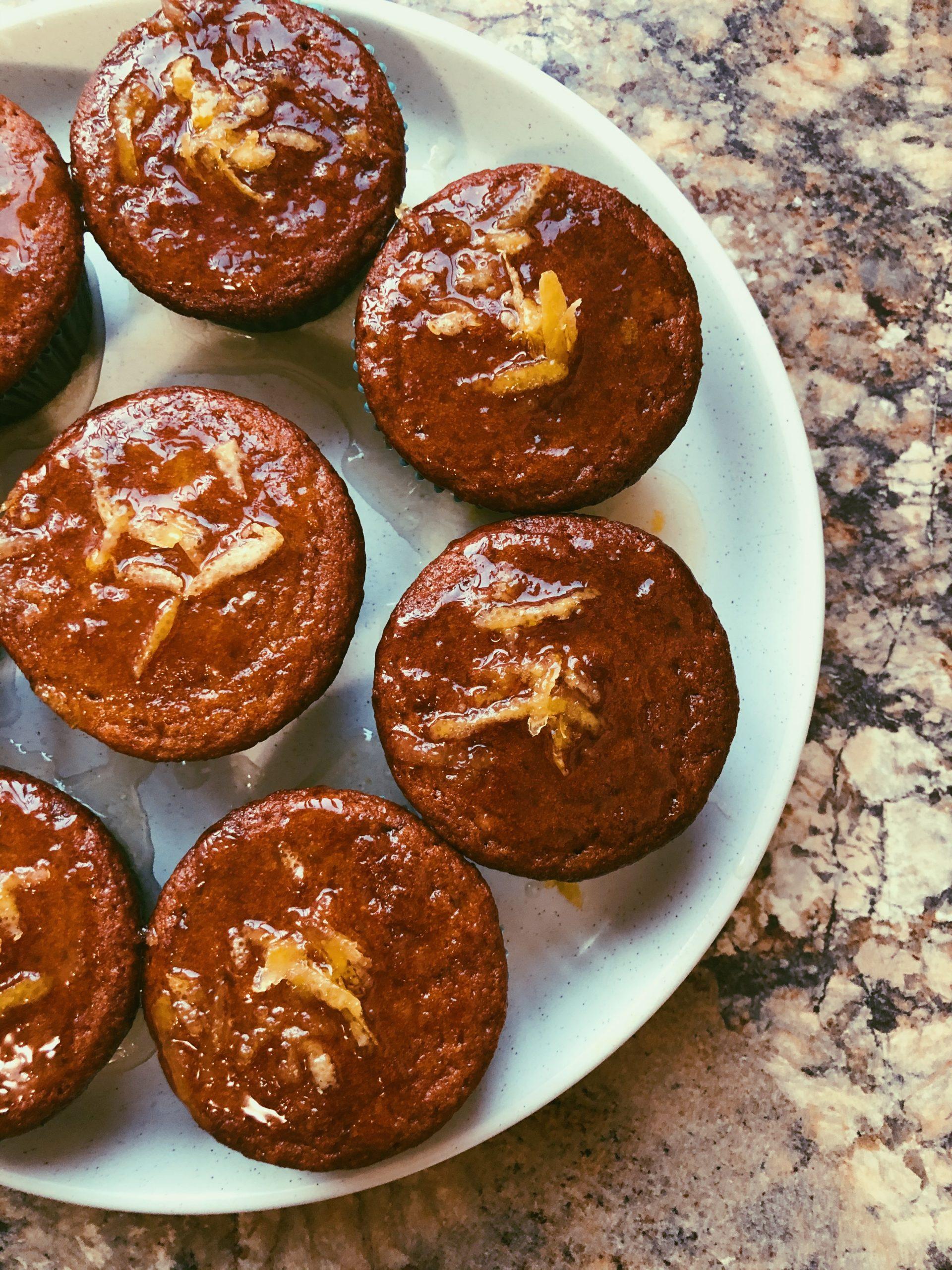 lemon muffins with a lemon honey glaze (grain free, scd diet)