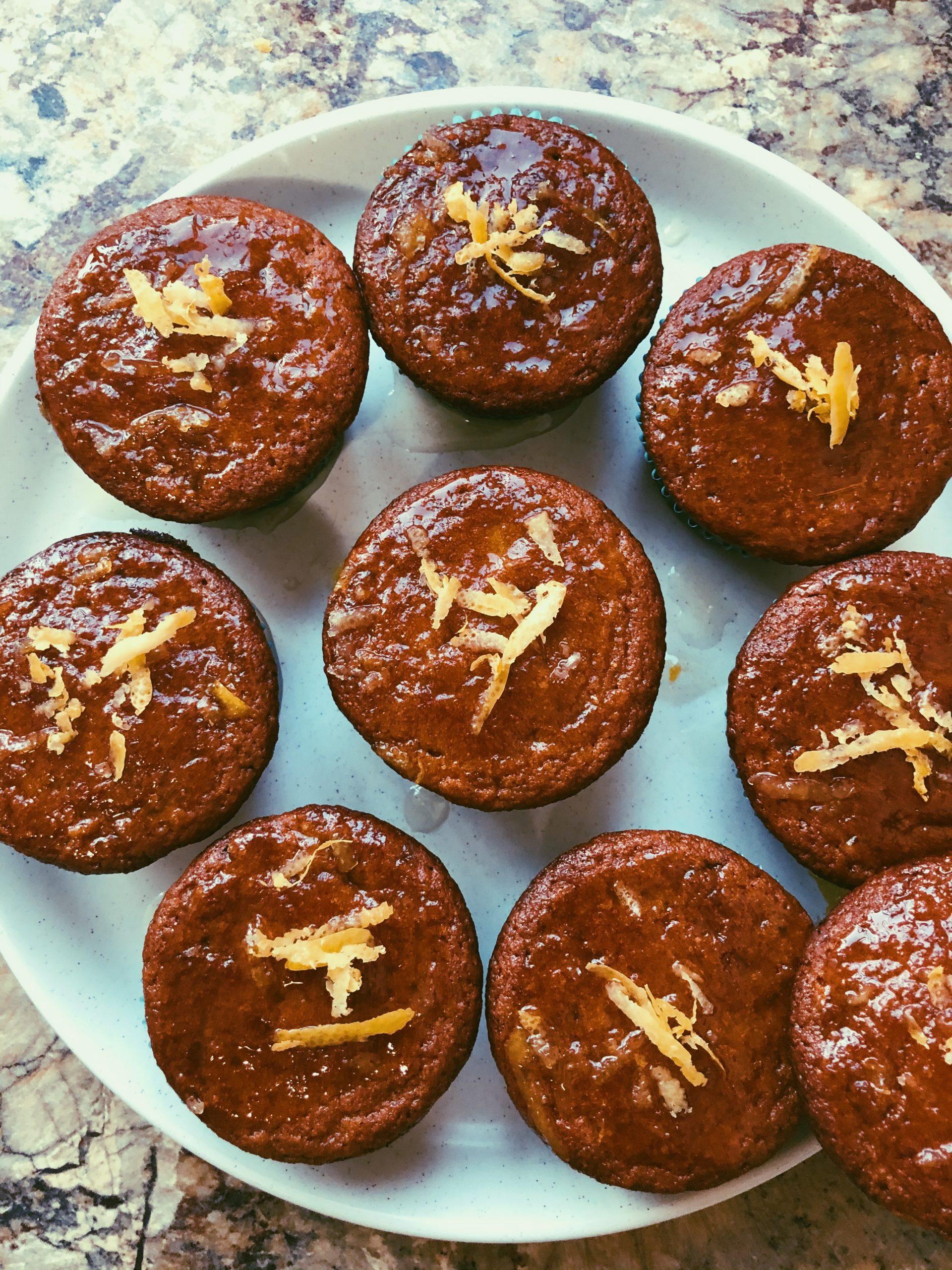 lemon muffins with a lemon honey glaze grain free, scd diet