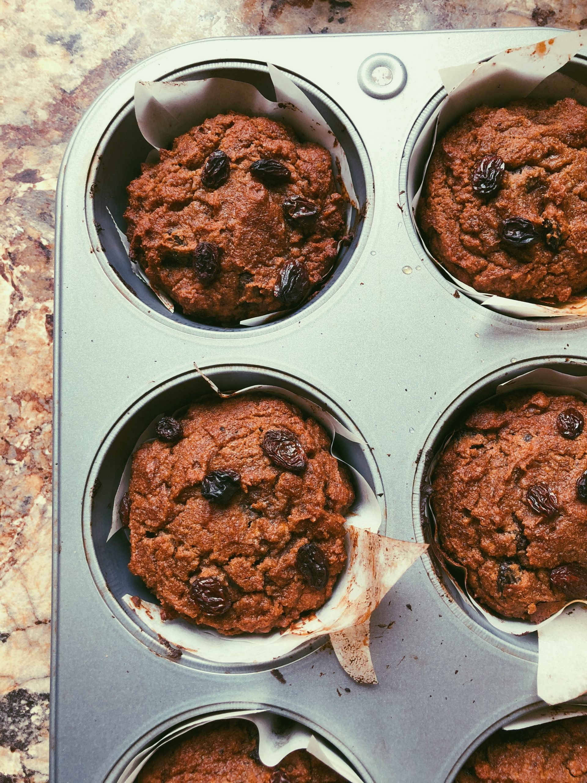 "grain free raisin ""bran"" muffins"