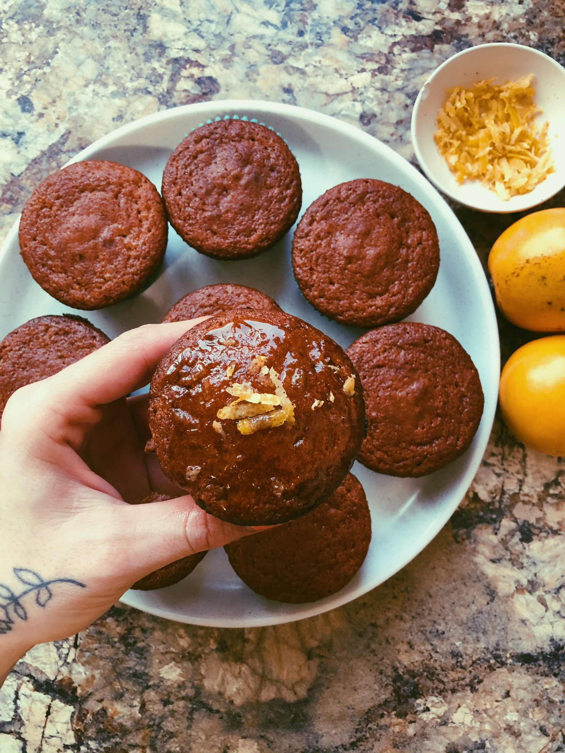 lemon muffins w a lemon-honey glaze (grain free, scd diet)