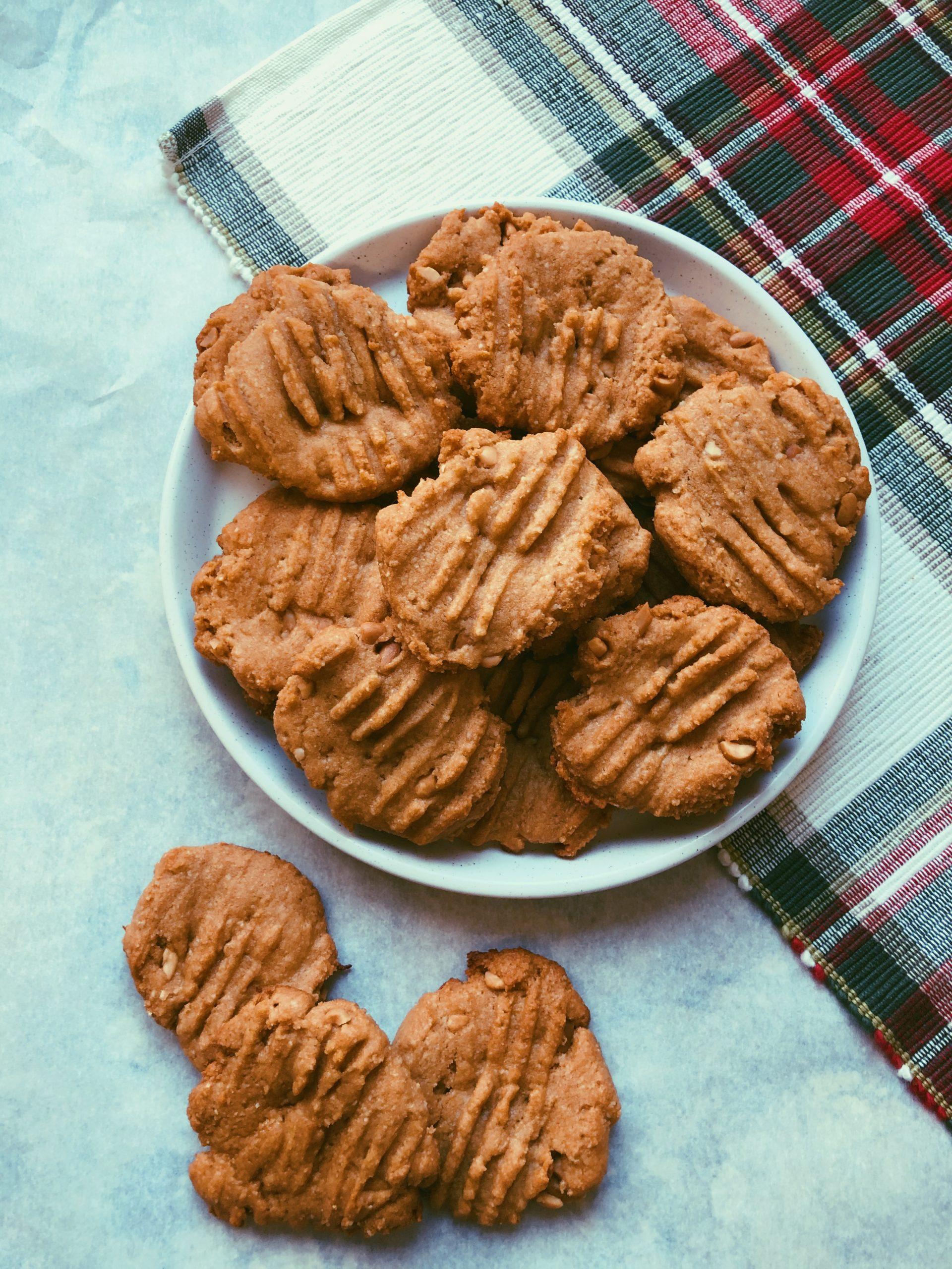 grain free super soft peanut butter cookies