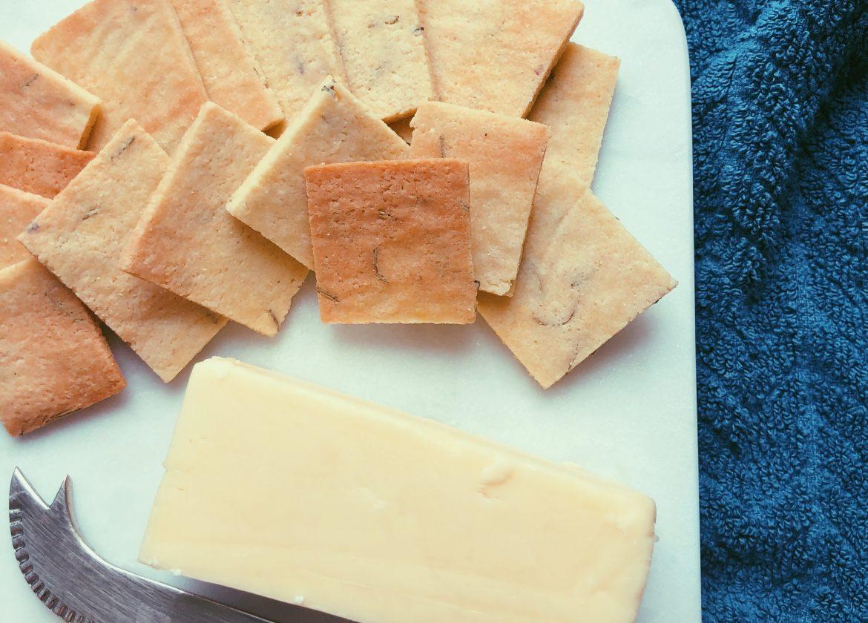 grain free rosemary crackers