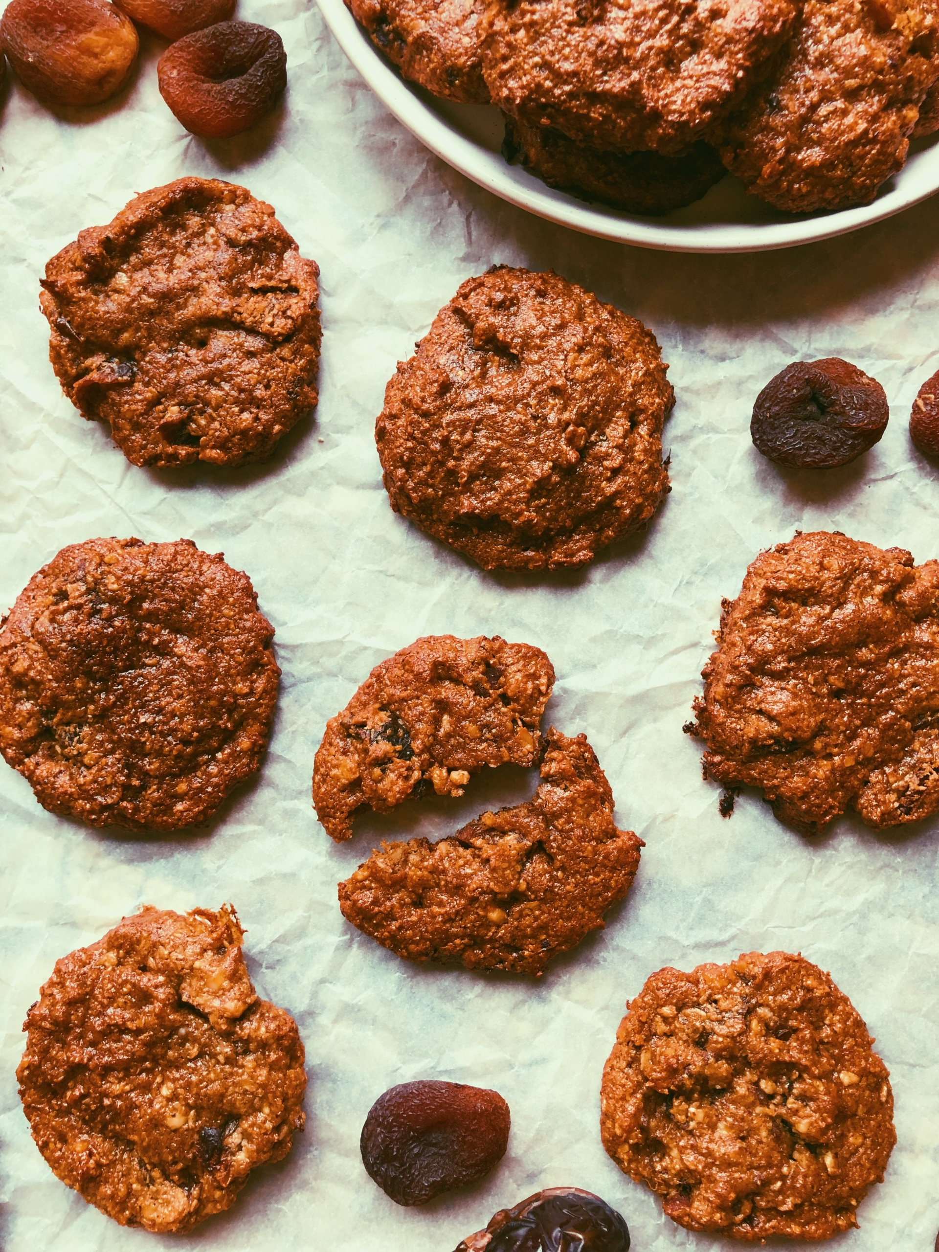 grain free chewy apricot date cookies
