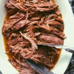 slow cooked shredded flank steak