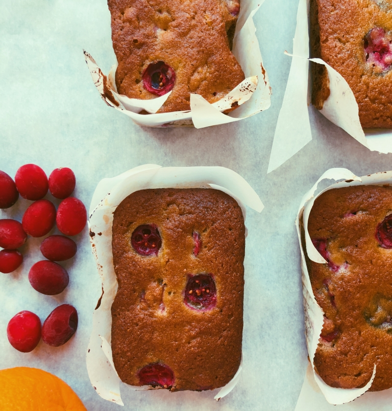 mini orange cranberry loaves grain free, scd diet