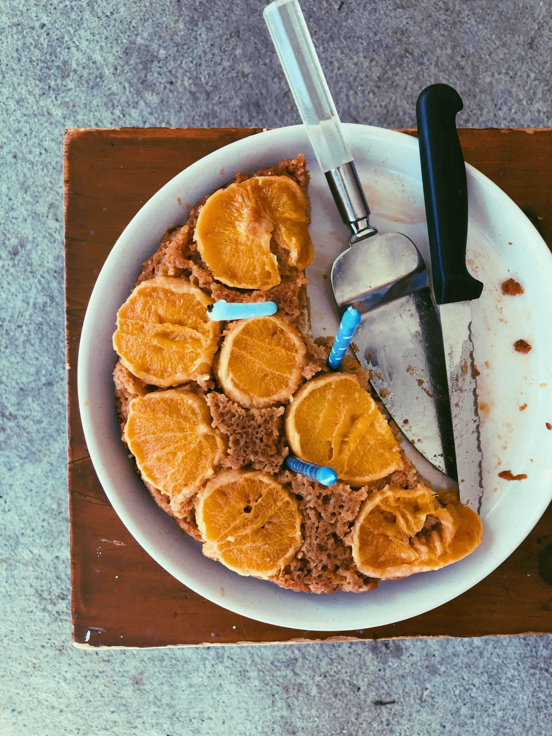orange upside down cake with coconut flour, grain free, scd diet