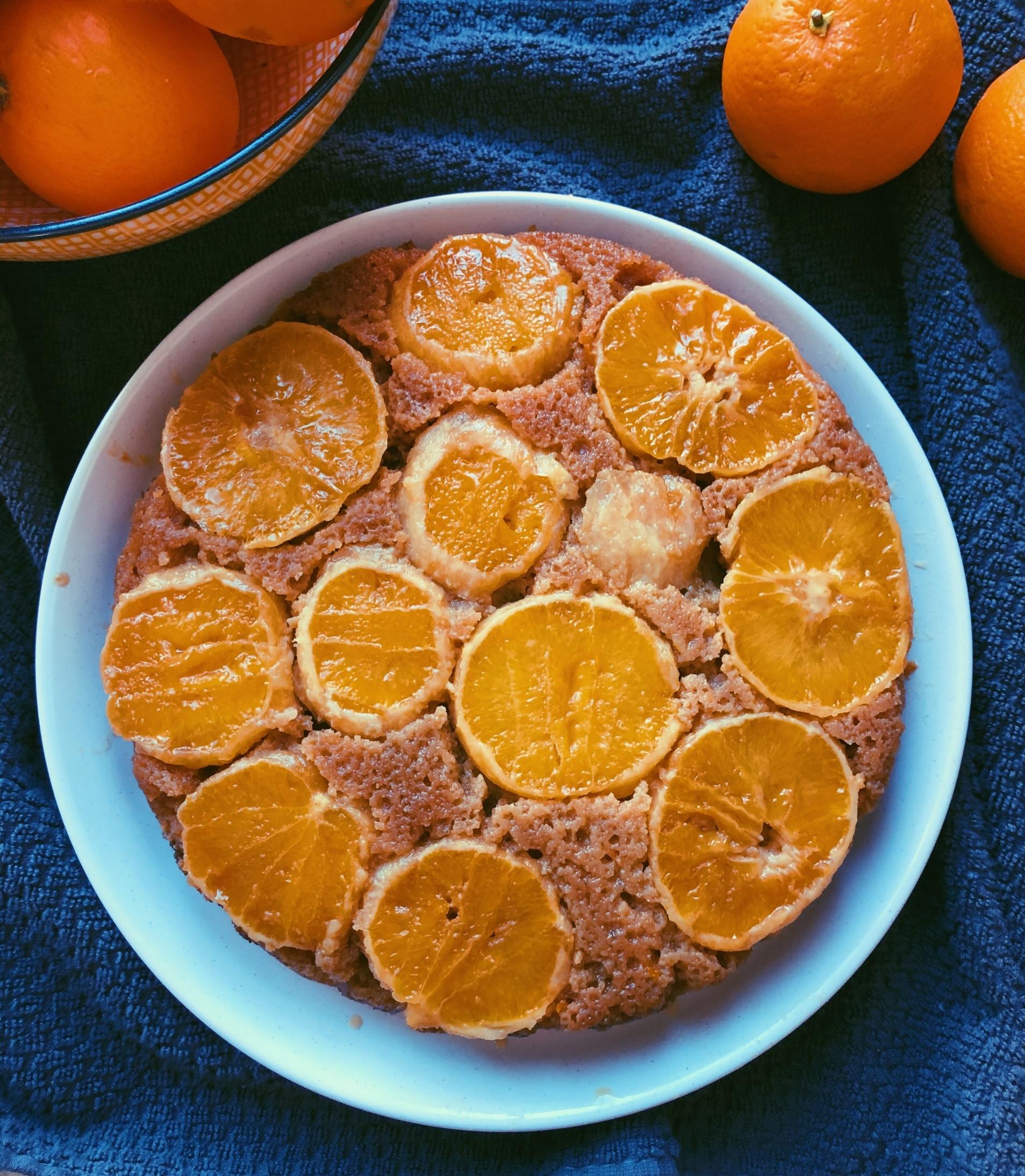 orange upside down cake with coconut flour grain free, scd diet)