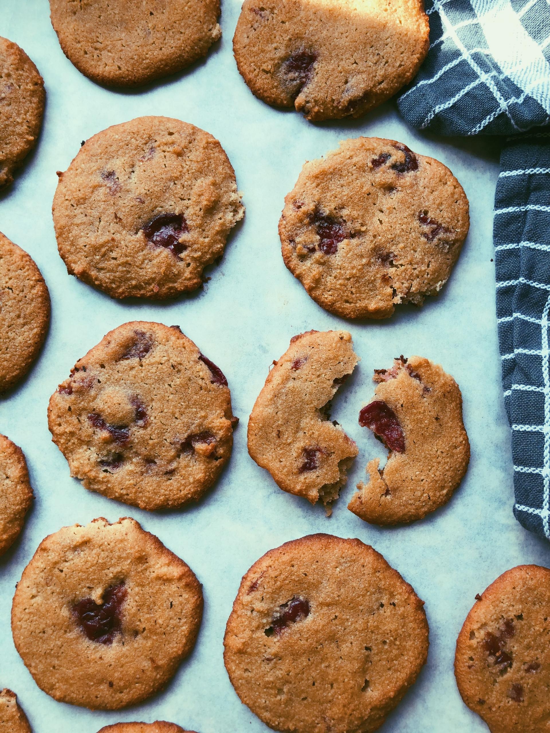 cherry pie cookies (grain free, scd diet, almond flour)