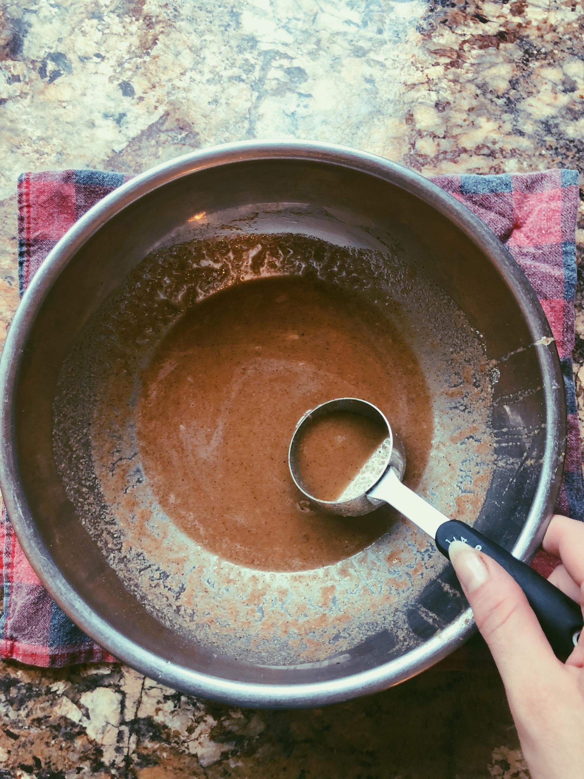 cinnamon chai crepes with baked apples and yogurt (grain free, scd die