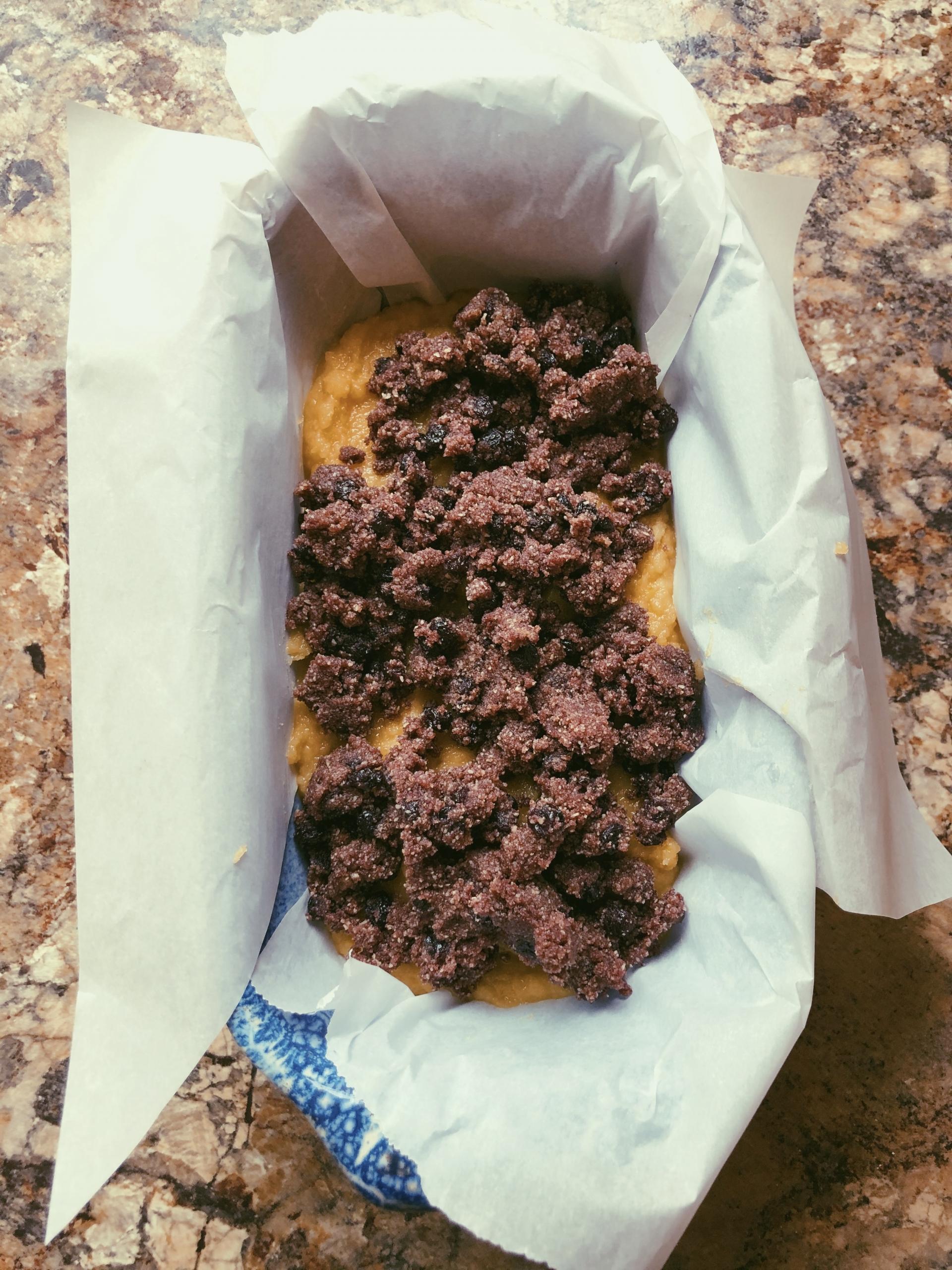 lemon olive oil loaf with blueberry cinnamon streusel (grain free, refined sugar free, scd diet)