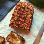 grain free zucchini rhubarb cinnamon loaf (coconut flour) (scd diet)