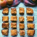 brown butter and tahini peach blondies (scd diet)